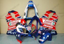 Honda CBR600 F4i 2001-2003 Injection ABS verkleidung - Castrol - Blau/Rot/Weiß
