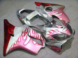 Honda CBR600 F4i 2001-2003 Injection ABS verkleidung - Rosa Flame - Silber/Rot