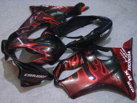 Honda CBR600 F4i 2004-2007 Injection ABS verkleidung - Rot Flame - Schwarz