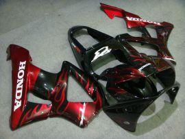 Honda CBR900RR 929 2000-2001 ABS verkleidung - Flame - Rot Flame(Schwarz)