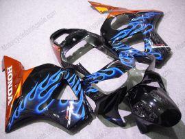 Honda CBR900RR 954 2002-2003 Injection ABS verkleidung - Blau Flame - Schwarz/Orange