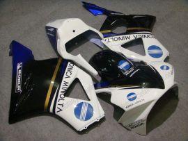 Honda CBR900RR 954 2002-2003 Injection ABS Race verkleidung - Konica Minolta - Weiß/Schwarz