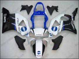 Honda CBR900RR 954 2002-2003 Injection ABS verkleidung - Konica Minolta - Weiß/Schwarz