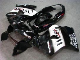 Honda VFR800 1998-2001 ABS verkleidung - West - Schwarz/Weiß