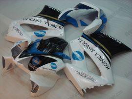 Honda VFR800 2002-2009 Injection ABS verkleidung - Konica Minolta - Blau/Weiß/Schwarz