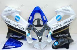 Honda VFR800 2002-2013 Injection ABS verkleidung - Konica Minolta - Weiß/Schwarz/Blau