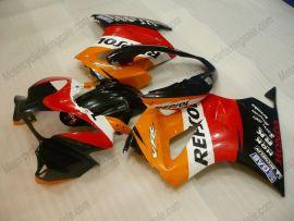 Honda VFR800 2002-2013 Injection ABS verkleidung - Repsol - Rot/Orange/Schwarz
