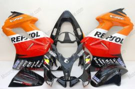 Honda VFR800 2002-2013 Injection ABS verkleidung - Repsol - Schwarz/Rot/Orange