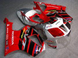 Honda VTR1000 RC51 2000-2006 ABS verkleidung - Racing - Rot/Schwarz/Silber