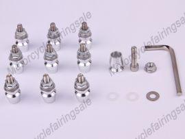 10pcs Motorrad universal- dekorativ Schraube M5 x 16mm Legierung Silber