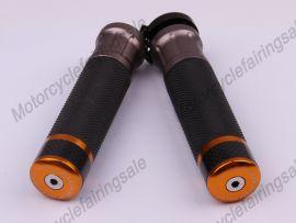 """Motorrad universal 22mm 7/8"""" paar Griff bar Griffe Golden Kohlenstoff Stoff Material"""