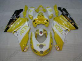 Ducati 749 / 999 2005-2006 Injection ABS verkleidung - Xerox - Gelb/Weiß