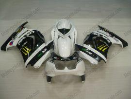 Kawasaki NINJA EX250 2007-2009 Injection ABS verkleidung - Monster - Weiß/Schwarz