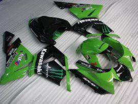 Kawasaki NINJA ZX10R 2003-2005 Injection ABS verkleidung - Monster - Grün/Schwarz