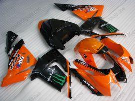 Kawasaki NINJA ZX10R 2003-2005 Injection ABS verkleidung - Monster - Orange/Schwarz