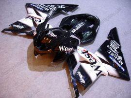 Kawasaki NINJA ZX10R 2003-2005 Injection ABS verkleidung - West - Schwarz/Weiß