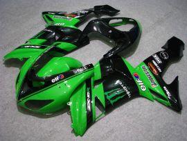 Kawasaki NINJA ZX10R 2006-2007 Injection ABS verkleidung - Monster - Grün/Schwarz