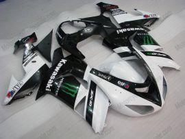 Kawasaki NINJA ZX10R 2006-2007 Injection ABS verkleidung - Monster - Weiß/Schwarz