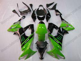 Kawasaki NINJA ZX10R 2008-2010 Injection ABS verkleidung - Monster - Grün/Schwarz