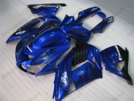 Kawasaki NINJA ZX14R 2006-2011 ABS verkleidung - Schwarz Flame - Blau
