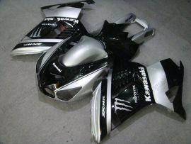Kawasaki NINJA ZX14R 2006-2011 Injection ABS verkleidung - Monster - Schwarz/Silber