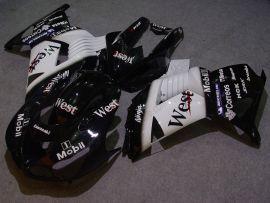 Kawasaki NINJA ZX14R 2006-2011 Injection ABS verkleidung - West - Schwarz/Weiß