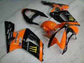 Kawasaki NINJA ZX6R 2003-2004 Injection ABS verkleidung - Monster - Orange/Schwarz