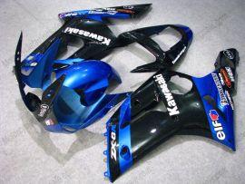 Kawasaki NINJA ZX6R 2003-2004 Injection ABS verkleidung - anderen - Schwarz/Blau