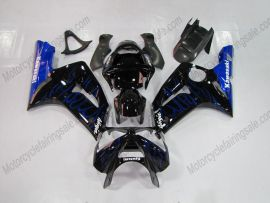 Kawasaki NINJA ZX6R 2003-2004 Injection ABS verkleidung - Blau Flame - Schwarz