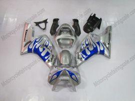 Kawasaki NINJA ZX6R 2003-2004 Injection ABS verkleidung -  Blau Flame - Silber