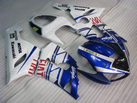 Kawasaki NINJA ZX6R 2005-2006 Injection ABS verkleidung - FIAT - Blau/Weiß