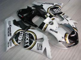 Kawasaki NINJA ZX6R 2005-2006 Injection ABS verkleidung - Lucky Strike - Weiß/Schwarz