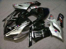 Kawasaki NINJA ZX6R 2005-2006 Injection ABS verkleidung - Monster - Schwarz/Silber