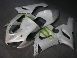 Kawasaki NINJA ZX6R 2005-2006 Injection ABS verkleidung - Monster - Weiß