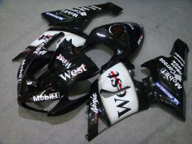 Kawasaki NINJA ZX6R 2005-2006 Injection ABS verkleidung - West - Schwarz/Weiß