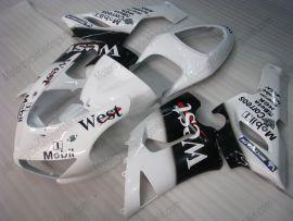 Kawasaki NINJA ZX6R 2005-2006 Injection ABS verkleidung - West - Weiß/Schwarz