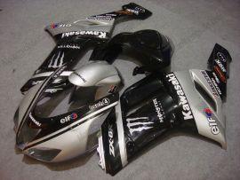 Kawasaki NINJA ZX6R 2007-2008 Injection ABS verkleidung - Monster - Silber/Schwarz
