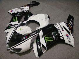 Kawasaki NINJA ZX6R 2007-2008 Injection ABS verkleidung - Monster - Weiß/Schwarz