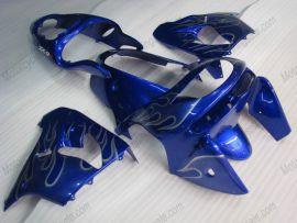 Kawasaki NINJA ZX9R 1998-1999 ABS verkleidung - Silber Flame - Blau