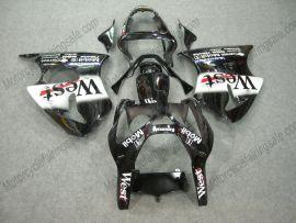 Kawasaki NINJA ZX9R 2000-2001 ABS verkleidung - West - Schwarz/Weiß