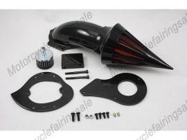 Honda Shadow VLX600 Motorrad Spike Luftfilter Filter Kit -1999 bis  - Schwarz