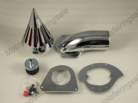 Kawasaki Vulcan 800 neue Motorrad Spike Luftfilter Einlassfilter-Kit - Chrom