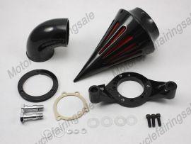 Harley Motorrad neue Spike-Luftfilter-Kit kilter benutzerdefinierte Anwendung Schwarz