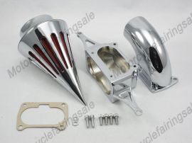 Honda VTX 1800 Motorrad-Spike-Luftreiniger Einlassfilter Kit Chrom 2002-2009