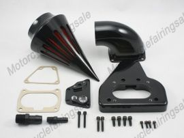 Honda VTX 1800 Motorrad-Spike-Luftreiniger Einlassfilter Kit 2002-2009 Schwarz