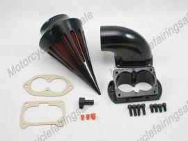 Kawasaki Motorrad 1500/1600 Vulcan Kraftstoffluftfilter Filter - 2002-2009 - schwarz