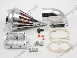 Kawasaki Motorrad 1500/1600 Vulcan Kraftstoffluftfilter Filter - 2002-2009 - Chrom