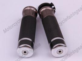 "Motorrad universal 22mm 7/8"" paar Griff bar Griffe Orange Kohlenstoff Stoff Material"
