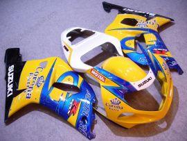 Suzuki GSX-R 1000 2000-2002 K1 K2 Injection ABS verkleidung - Corona - Gelb/Blau
