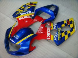 Suzuki GSX-R 1000 2000-2002 K1 K2 Injection ABS verkleidung - Movistar - Blau/Gelb/Rot